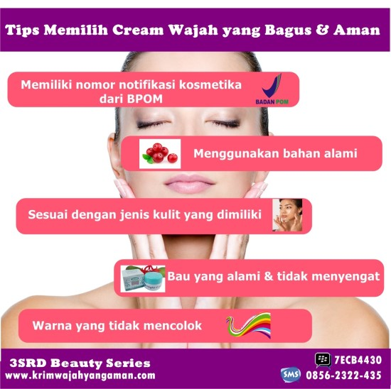 Cream Muka Yang Bagus Dan Aman Untuk Wajah 3SRD